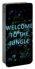 Welcome To The Jungle - Neon Typography Portable Battery Charger
