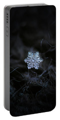 Portable Battery Charger featuring the photograph Real Snowflake - 2017-12-07 1 by Alexey Kljatov