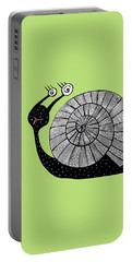 Cartoon Snail With Spiral Eyes Portable Battery Charger