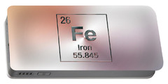 Periodic Table Of Elements - Iron Fe Portable Battery Charger