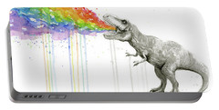 T-rex Tastes The Rainbow Portable Battery Charger