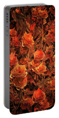 Bronze Roses Portable Battery Charger