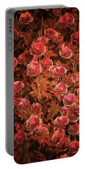 Pink Bionica Roses Portable Battery Charger