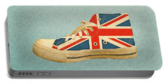Portable Battery Charger featuring the digital art Hi Top With England Flag by Anthony Murphy
