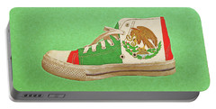Portable Battery Charger featuring the digital art Hi Top With Mexican Flag by Anthony Murphy
