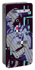 Portable Battery Charger featuring the digital art My Robot by Anthony Murphy