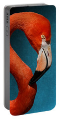 Profile Of An American Flamingo Portable Battery Charger