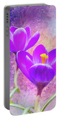 Our First Crocuses This Spring Portable Battery Charger