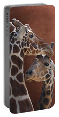 Endearing Giraffes Portable Battery Charger