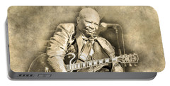 Portable Battery Charger featuring the digital art Blues Boy by Anthony Murphy
