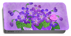 V Is For Violets Portable Battery Charger