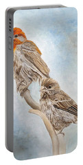 House Finch Couple Portable Battery Charger