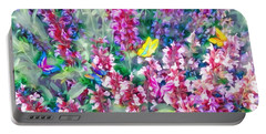 Colorful Floral Mix Portable Battery Charger