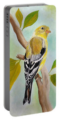 Pretty American Goldfinch Portable Battery Charger