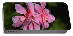 Soft Pinks Of Geranium  Portable Battery Charger