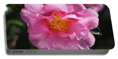 A Pink Camellia Brightens Winter Portable Battery Charger