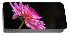 Dahlias On Black Portable Battery Charger