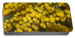Yellow And Golden As Wattle Portable Battery Charger