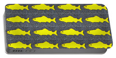Portable Battery Charger featuring the photograph Yellow Fish by Ethna Gillespie