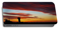 Sunrise Over Golden Spike Tower Portable Battery Charger by Bill Kesler