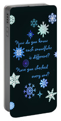 Snowflakes 2 Portable Battery Charger by Methune Hively