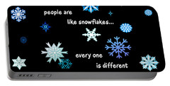 Snowflakes 4 Portable Battery Charger by Methune Hively