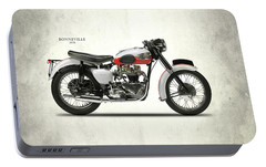 Triumph Bonneville 1959 Portable Battery Charger by Mark Rogan
