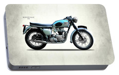 Triumph Bonneville 1961 Portable Battery Charger by Mark Rogan