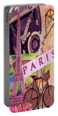 Portable Battery Charger featuring the drawing Paris  by Eloise Schneider