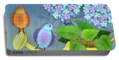 Two Birds On A Watering Can Portable Battery Charger