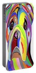 Bulldog Portable Battery Charger by Eloise Schneider