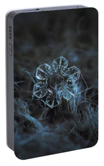 Portable Battery Charger featuring the photograph Snowflake Photo - The Core by Alexey Kljatov