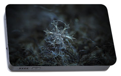 Portable Battery Charger featuring the photograph Snowflake Photo - Starlight by Alexey Kljatov