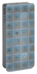Snowflake Collage - Season 2013 Bright Crystals Portable Battery Charger by Alexey Kljatov