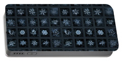Snowflake Collage - Season 2013 Dark Crystals Portable Battery Charger