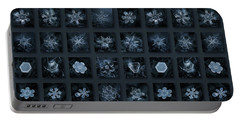 Snowflake Collage - Season 2013 Dark Crystals Portable Battery Charger by Alexey Kljatov