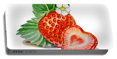 Artz Vitamins A Strawberry Heart Portable Battery Charger