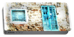 Arzachena Window And Blue Door Store Portable Battery Charger