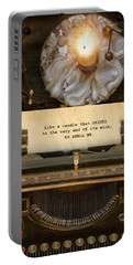 Portable Battery Charger featuring the photograph So Shall We by Robin-Lee Vieira
