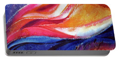Portable Battery Charger featuring the painting As I Bloom by Kathy Braud