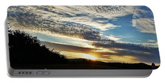 Portable Battery Charger featuring the photograph As I Watch The Sun Rise by Maria Urso