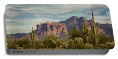 Portable Battery Charger featuring the photograph As The Evening Arrives In The Sonoran  by Saija Lehtonen