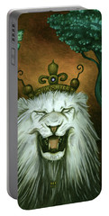 As The Lion Laughs Portable Battery Charger by Leah Saulnier The Painting Maniac