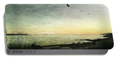 Portable Battery Charger featuring the photograph As The Sky Darkens  by Connie Handscomb