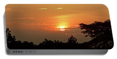 As The Sun Sets ... Orange Portable Battery Charger