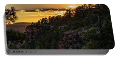 Portable Battery Charger featuring the photograph As The Sun Sets On The Rim  by Saija Lehtonen