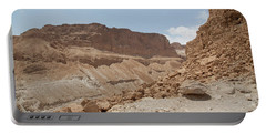 Portable Battery Charger featuring the photograph Ascension To Masada - Judean Desert, Israel by Yoel Koskas