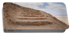 Portable Battery Charger featuring the photograph Stairway To Heaven - Masada, Judean Desert, Israel by Yoel Koskas