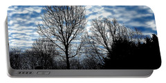 Ash Trees Against A Mackerel Sky Portable Battery Charger