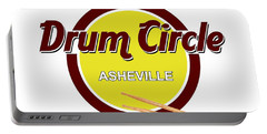 Asheville Drum Circle Logo Portable Battery Charger